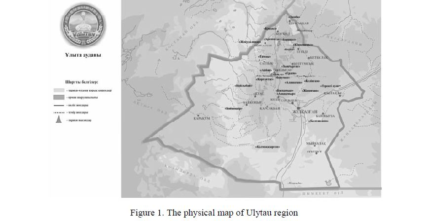 Ecotourism excursion routes of Ulytau region